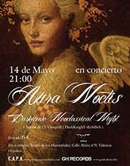 Aura Noctis live in Teatro de los Manantiales (Valencia, Spain), May 14, 2011 - Poster - open/download image @1125x1425